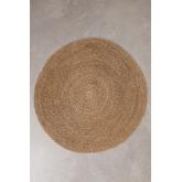 Tappeto rotondo in iuta naturale (Ø145 cm) Drak, immagine in miniatura 1