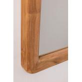 Specchio da parete in legno di teak Uesca, immagine in miniatura 4