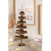 Albero di Natale in legno con luci LED Madi, immagine in miniatura 2