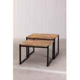 Tavolini Impilabili in legno riciclato Emet, immagine in miniatura 3