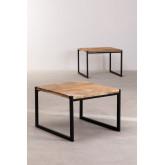 Tavolini Impilabili in legno riciclato Emet, immagine in miniatura 4