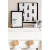 Set di 2 poster decorativi natalizi (50x50 e 30x40 cm) Wyrty, immagine in miniatura 1