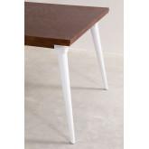 Tavolo da pranzo rettangolare in legno (145x90 cm) Nuats, immagine in miniatura 5