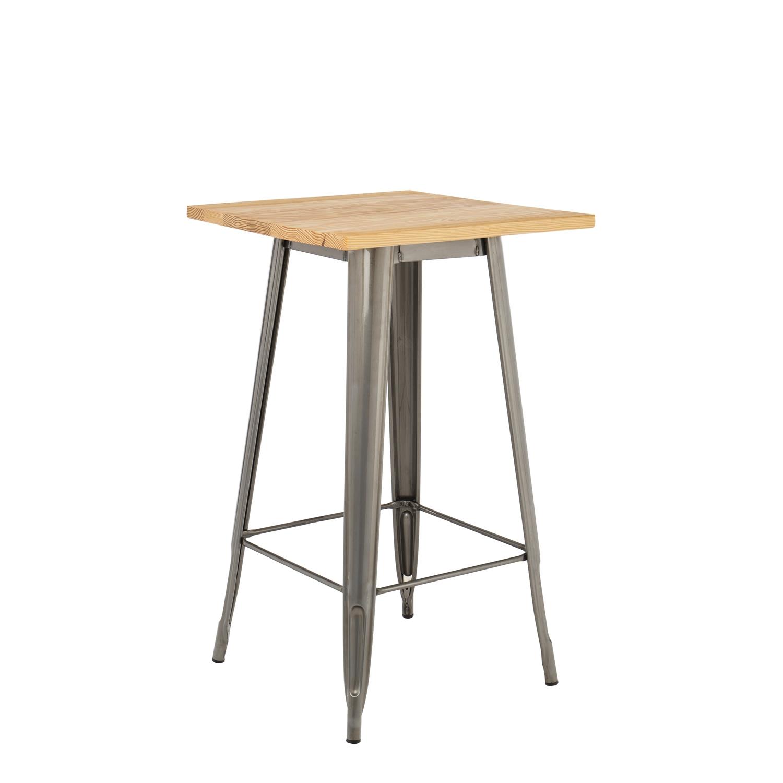 Tavolo alto lix legno piallato sklum italia for Tavolo alto legno ikea