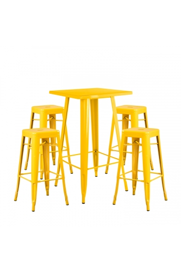Set tavolo alto LIX e 4 sgabelli alti LIX