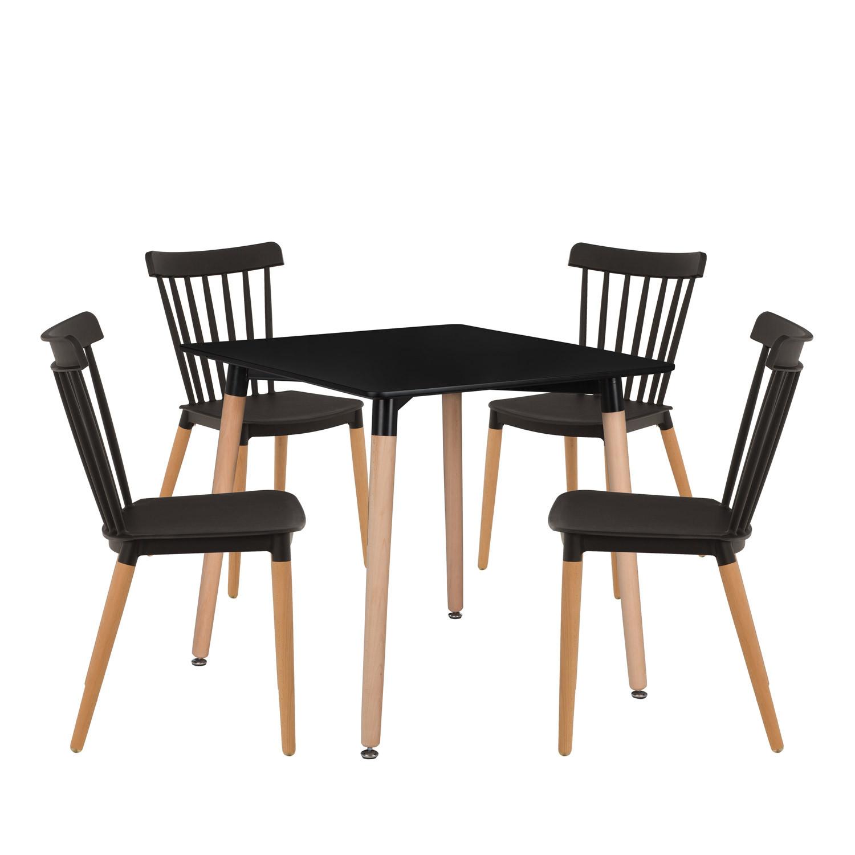 Set da tavola Royal (80x80) e 4 sedie reali , immagine della galleria 1