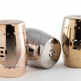 Sgabello decorativo basso in ceramica metallizzata Edal, immagine in miniatura 4