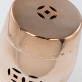 Sgabello decorativo basso in ceramica metallizzata Edal, immagine in miniatura 3
