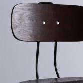 Sgabello alto Okorv in acciaio e legno, immagine in miniatura 2