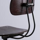 Sgabello alto Okorv in acciaio e legno, immagine in miniatura 3