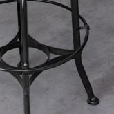 Sgabello alto Okorv in acciaio e legno, immagine in miniatura 4