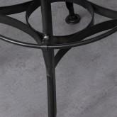 Sgabello alto Okorv in acciaio e legno, immagine in miniatura 5