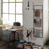 Sgabello alto Okorv in acciaio e legno, immagine in miniatura 6