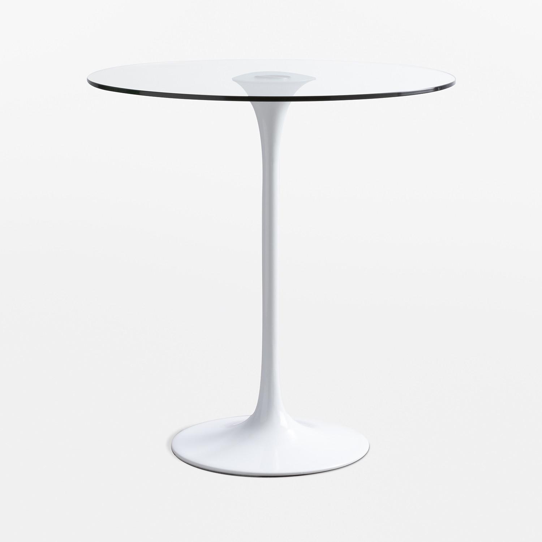Tavolo Rotondo in Vetro e Alluminio (Ø70-90 cm) Tuhl - SKLUM