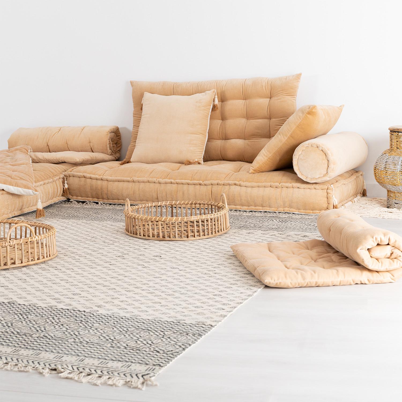 Cuscini Beige Per Divano cuscino doppio per divano componibile affy - sklum