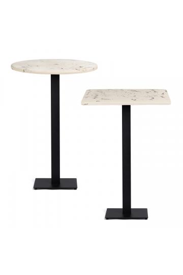 Tavolo alto da bar in marmo rifinito in cemento