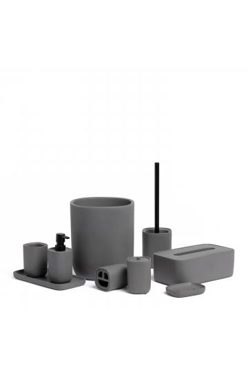 Set di 9 accessori per il bagno in cemento Issa