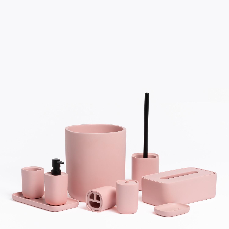 Set di 9 accessori da bagno in cemento Reyn, immagine della galleria 1