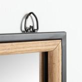 Specchio da parete rettangolare in legno e metallo (130,5x35 cm) Iogus, immagine in miniatura 3
