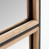 Specchio da parete rettangolare in legno e metallo (130,5x35 cm) Iogus, immagine in miniatura 4