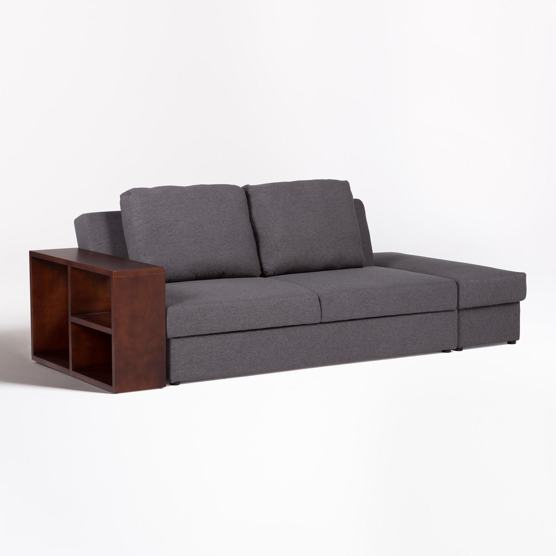 Divano letto modulare a 2 posti in lino Kauri, immagine della galleria 1
