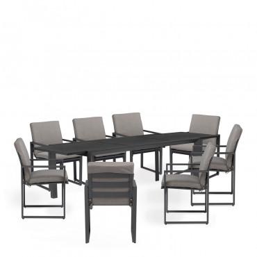 Confezione tavolo allungabile da esterno Starmi (200 - 280 ...