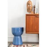 Tavolino rotondo in ceramica (Ø32,5 cm) Kaly, immagine in miniatura 1