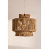Lampada da soffitto Kena in carta intrecciata, immagine in miniatura 1