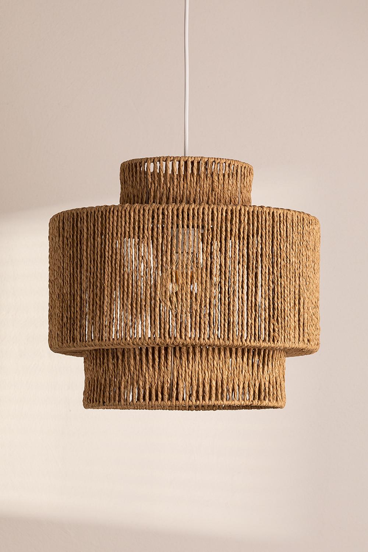 Lampada da soffitto Kena in carta intrecciata, immagine della galleria 1