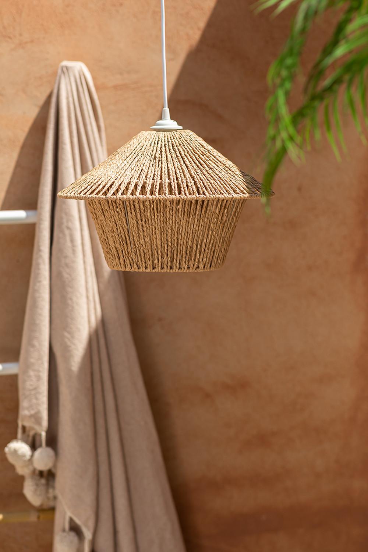 Lampada da soffitto Jous in carta intrecciata, immagine della galleria 1