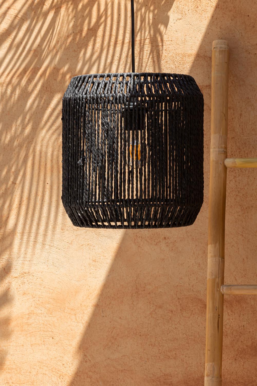 Lampada da soffitto in carta intrecciata Ydae, immagine della galleria 1