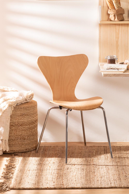 Sedia in Legno Naturale e Acciaio Uit , immagine della galleria 1