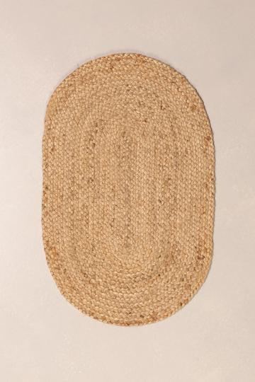 Zerbino ovale in juta naturale (73x46 cm) Mai