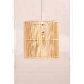 Lampada da soffitto Kub Rattan (Ø30 cm), immagine in miniatura 2
