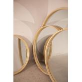 Specchio rotondo in legno Yiro, immagine in miniatura 6