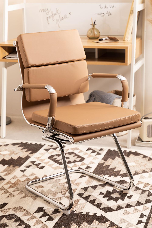 Sedia Ufficio Metal con Braccioli Mina, immagine della galleria 1