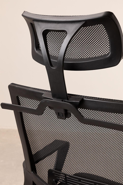 Sedia Ufficio con Ruote e Poggiatesta Teill Black - SKLUM