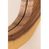 Specchio da parete rotondo in legno (33,5x30,5 cm) Vrao, immagine in miniatura 4