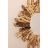 Specchio da parete rotondo in legno (Ø50 cm) Laki, immagine in miniatura 4