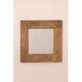 Specchio da parete quadrato in legno riciclato (50x50 cm) Taipu, immagine in miniatura 3