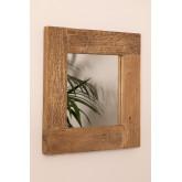 Specchio da parete quadrato in legno riciclato (50x50 cm) Taipu, immagine in miniatura 2