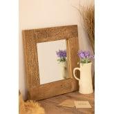 Specchio da parete quadrato in legno riciclato (50x50 cm) Taipu, immagine in miniatura 1
