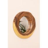 Specchio da parete rotondo in legno (33,5x30,5 cm) Vrao, immagine in miniatura 2