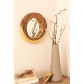 Specchio da parete rotondo in legno (33,5x30,5 cm) Vrao, immagine in miniatura 1