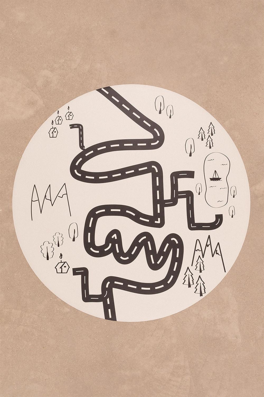 Tappeto rotondo in vinile (Ø150 cm) Nirar Kids, immagine della galleria 1