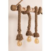 Lampada a sospensione in legno Savy, immagine in miniatura 4