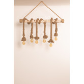 Lampada a sospensione in legno Savy, immagine in miniatura 1