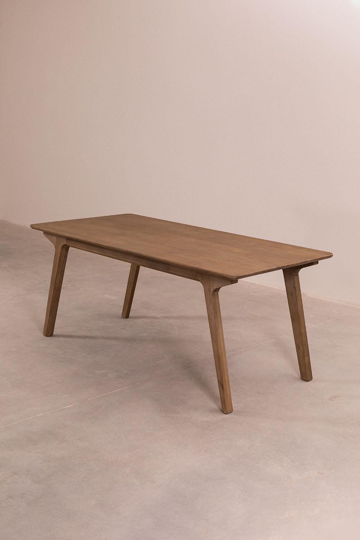 Tavolo da pranzo rettangolare in legno (180x90 cm) Dheos, immagine della galleria 1