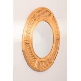 Specchio da parete rotondo in rattan (Ø81 cm) Lopo, immagine in miniatura 1