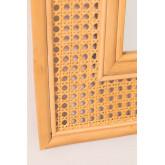 Specchio da parete rettangolare in rattan (75x61 cm) Masit, immagine in miniatura 5